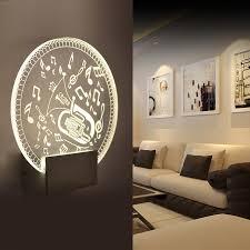 wall light metal acrylic smd5730 modern led wall lamps bedroom