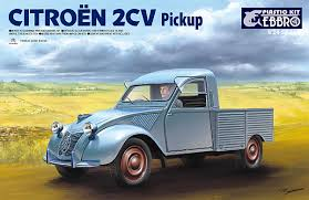 citroen 2cv scale model news citroen 2cv pickup kit 1 24 scale model from ebbro