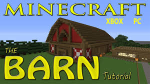 minecraft easy barn tutorial with schematics youtube