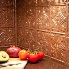 Fasade Kitchen Backsplash Pressed Tin Copper Backsplash