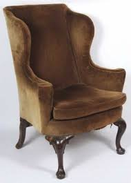 Queen Anne Wingback Chair Leather Antique Queen Anne Chairs Foter