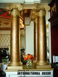 decorative pillars for homes interesting column stone clad column