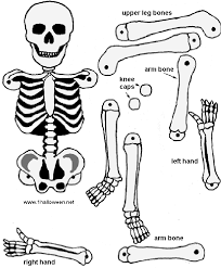 skeleton cutout riddles coloring pages games