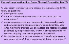 design criteria questions lean chemicals toolkit chapter 6 lean epa us epa