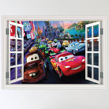 pixar cars tv dvd with lightning mcqueen remote lightning disney pixar cars wall art