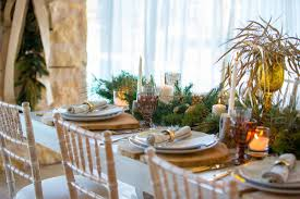 art de la table design rustic christmas white lilac