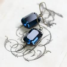 original earrings original estate earrings montana sapphire emerald cut
