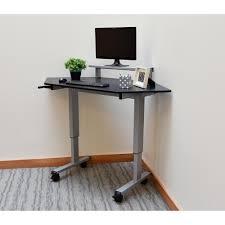 Laptop And Printer Desk by Luxor Black Adjustable Stand Up Desk Standup 40 B The Home Depot