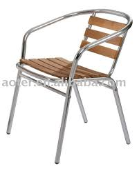 chaise bistrot alu aluminium bois bistro chaise café chaise buy product on alibaba com
