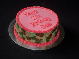 stir crazy confections camo u0027 and pink bday cake