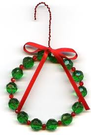 wreath ornament beaded jewelry kit