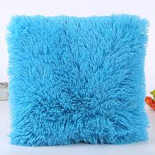 Sofa Pillow Cases Fluffy Plush Pillow Case Luxury Cases Housewife Pillow Cover Sofa