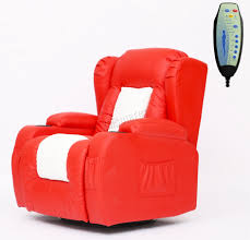 reclining swivel rocking chair foxhunter leather massage cinema recliner chair sofa swivel