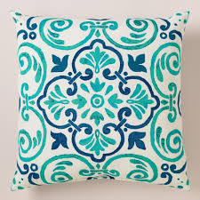turquoise throw pillows charleston stripe square outdoor throw