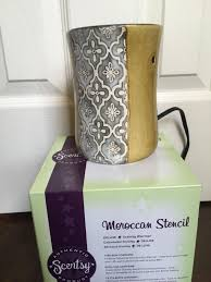 64 Best Moroccan Stencil And by Find More Scentsy Wax Warmer Moroccan Stencil Never Used Yellow