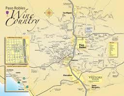 Map Of Burbank Ca Paso Robles Wine Maps California Winery Advisor