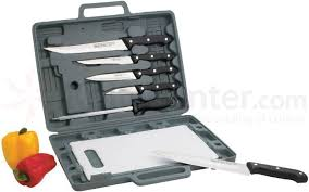 maxam kitchen knives maxam 8 knife set with cutting board knifecenter bfct82