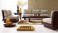Simple Wooden Sofa Home Design Ideas