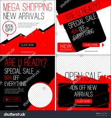 sale instagram banners black friday sale stock vector 415487464