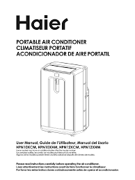 haier air conditioner hpn12xcm user guide manualsonline com