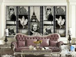 3d classic film star wall paper wall mural decals movie media room