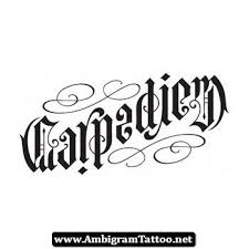 carpe diem ambigram tattoo 01 http ambigramtattoo net carpe