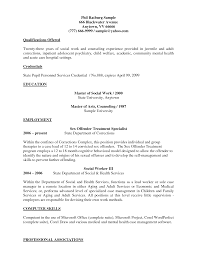 Social Work Sample Resume  sample resume  hospital social worker       wwwresume happytom co