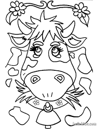 cow coloring pages crazy of a cowgirl picture animal cowboy hat