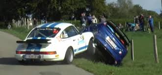 rally porsche 911 rally porsche 911 rsr crashes into already crashed ford focus rs