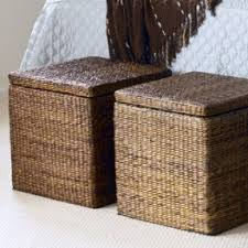 Seagrass Storage Ottoman Wicker Ottomans Foter