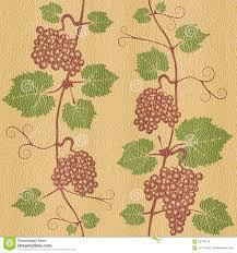 White Oak Texture Seamless Decorative Grape Leaves Seamless Background White Oak Wood