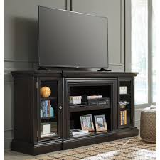 ashley furniture carlyle xl tv stand with fireplace in almost