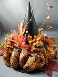 halloween floral centerpieces autumn harvest witch hat ooak centerpiece halloween prop