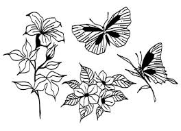 butterfly flower designs