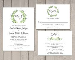laurel wedding invitation rsvp details card printable by