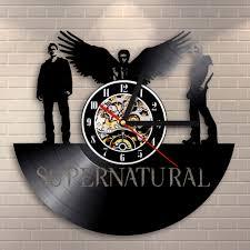 Vinyl Record Wall Mount Supernatural Clocks Promotion Shop For Promotional Supernatural