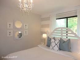 Pink And White Striped Bedroom Walls Livelovediy Diy Striped Wall Guest Bedroom Makeover