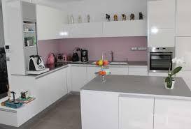 cuisine blanc brillant galerie avec cuisine blanc brillant des photos doperdoll com