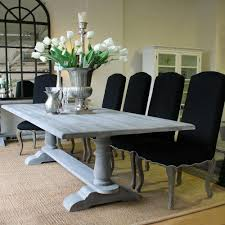 louis xv avignon refectory dining table cloudy grey solid timber