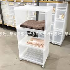 Bathroom Storage Carts Usd 57 79 Muji Muji Pp Three Layer Shelf Attached To Wheels