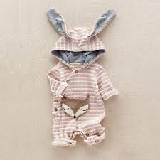 newborn jumpsuit baby 3d fox hooded romper newborn jumpsuit clothing costume 2