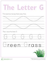 practice tracing the letter g worksheet education com