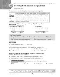 absolute value inequalities worksheet with answers worksheets
