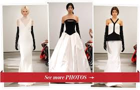 black and white wedding dresses see vera wang s wedding dress collection 17 black and white