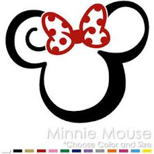 tribal minnie mouse two color tattoo mickey disney vinyl decal