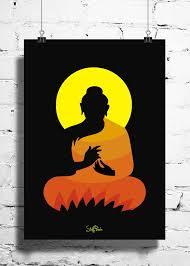 cool abstract ethnic gautam buddha wall posters art prints
