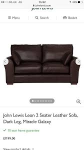 lewis leather 6 foot sofa cost 1300 want 75 delivered in