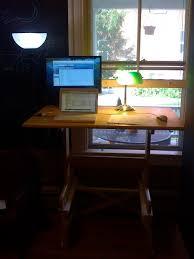 diy standing desk in prep for treadmill desk 5 steps