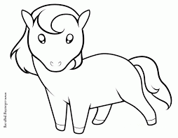 cute horse coloring pages getcoloringpages