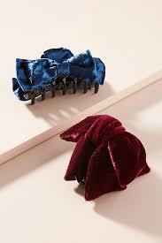 bow hair velvet bow hair clip set anthropologie
